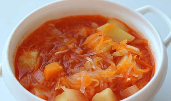 Вегетарианский суп с фунчозой